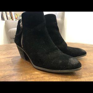 FRYE booties, Black suede
